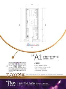 塘朗城二期C座A1户型
