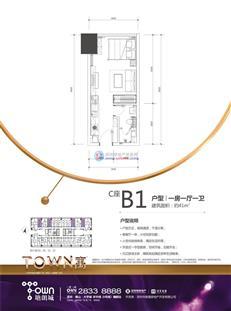 塘朗城二期C座B1户型
