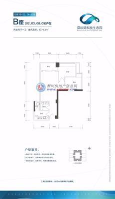 科技生态园5栋B座02/03/08/09户型(16-22 24-37层)
