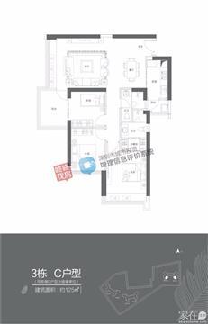 香山美墅·云颂3栋C户型