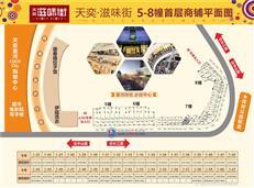 天奕·滋味街首层商铺平面图