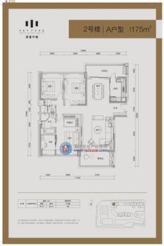 深业中城2号楼A户型(3-28层)