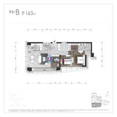 世茂深港国际中心T2-B户型