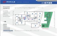 有所为大厦A/B/C座2-4层平面图