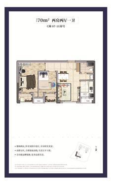 龙湖春江天玺公寓C座07/08/09/10/11户型